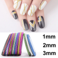 6Pcs/lot Mixed Colors Scrub Metal Gold Silver 1mm 2mm 3mm Nail Striping Tape Line For Nails Decorations DTY Nail Decal Tools