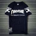2017 Hip Hop Hombres de la camiseta de Las Mujeres t shirt Pareja 77 skateboard thrasher camisetas Camisa Masculina camisetas de Los Hombres Tee camisas