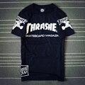 2017 Hip Hop T shirt Das Mulheres Dos Homens t camisa Casal skate 77 thrasher T camisas Camisa Masculina camisetas Homens Tee camisas