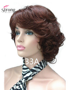 Image 2 - StrongBeauty Womens Short Curly Heat Resistant Synthetic Auburn Hair Wigs COLOUR CHOICES