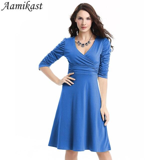 Aamikast Women Dress New Patterns Plus Size Clothing Audrey Hepburn