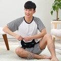 Los hombres la Ropa Interior de Algodón de Rayas Ropa de Dormir Pijamas de Las Mujeres Ropa de Dormir Pareja Homewear Pijamas para hombres Conjunto Salón de la Ropa de Moda