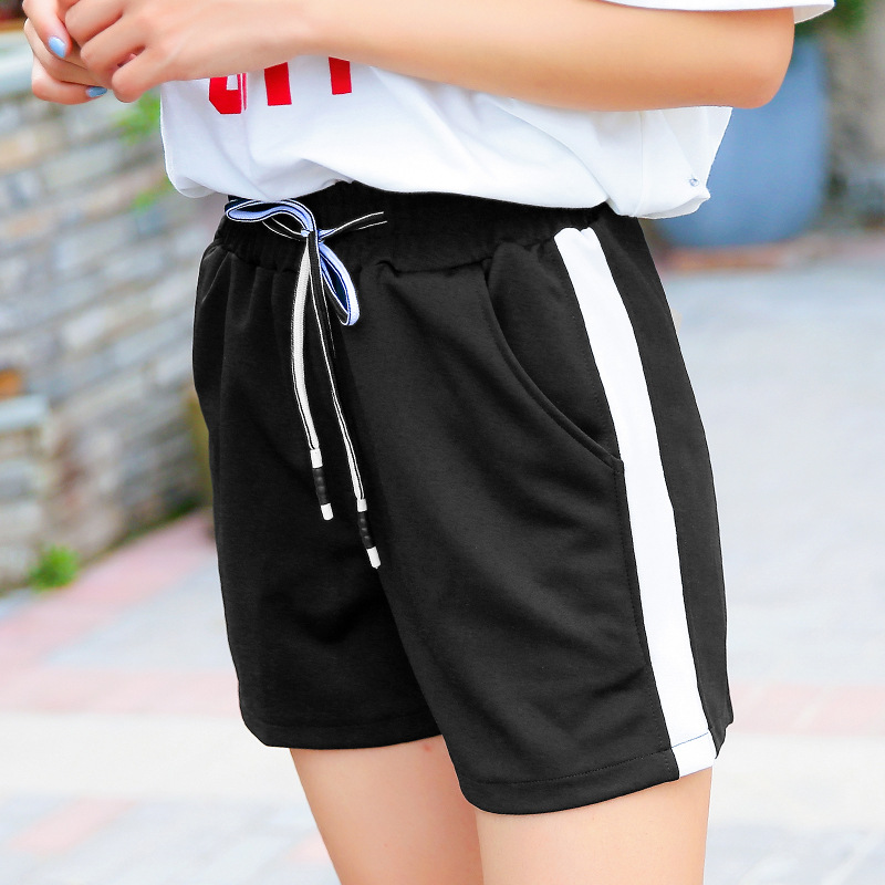 Women Black Shorts for Workout vs Active Lined Shorts Elastic Waist Plue Size Quick-drying Breathable Fitness Basic Shorts