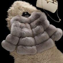 2016 winter fur female short design full leather fox fur coat three quarter sleeve