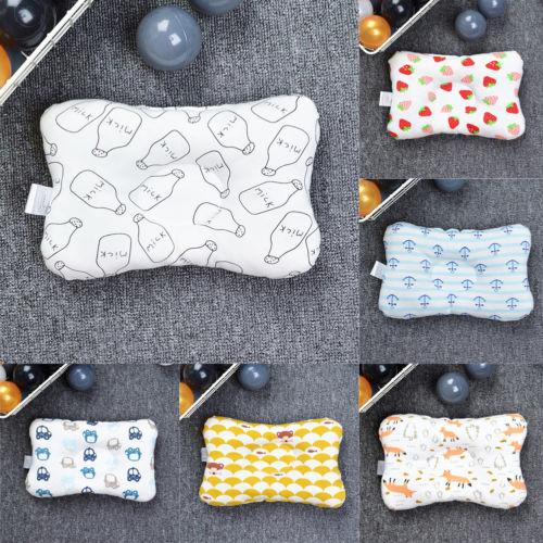 Infant Newborn Memory Foam Pillow Prevent Flat Head Anti Roll Support SQ