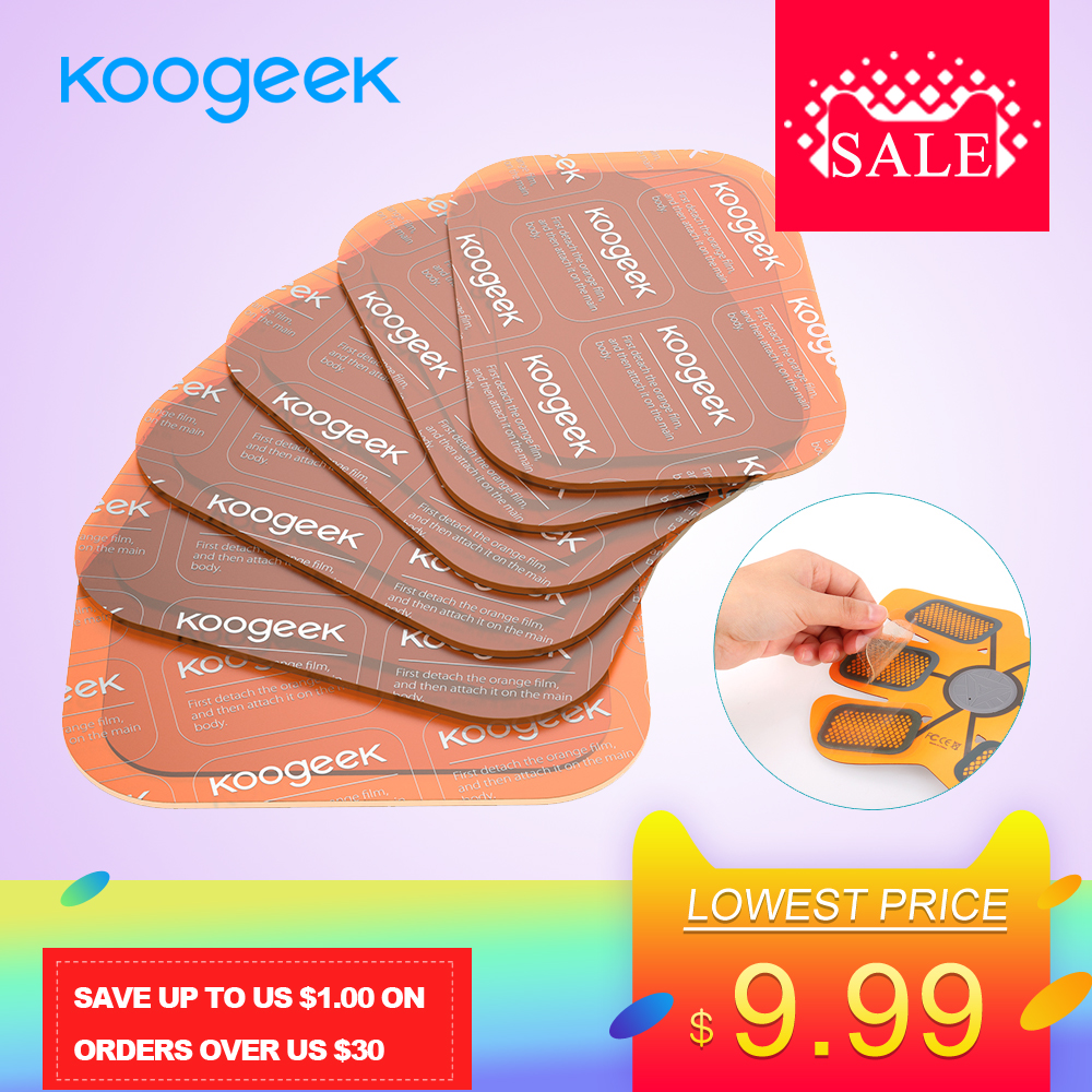 Koogeek Gel Patches Corps en Forme Super Adhésif Absorption D'eau pour Smart Engins de Fitness 6 pièces Transparent