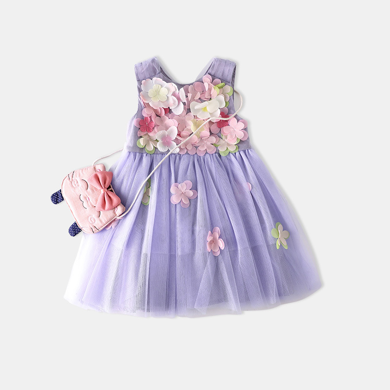 2018 Fashion Kids Girls Flower Dress Baby Girl Butterfly Birthday Party Dresses Children Fancy Princess Gown Wedding Clothes princess girl party dress children wedding birthday tutu dress infant lace corchet christening gown baby girls dresses clothes