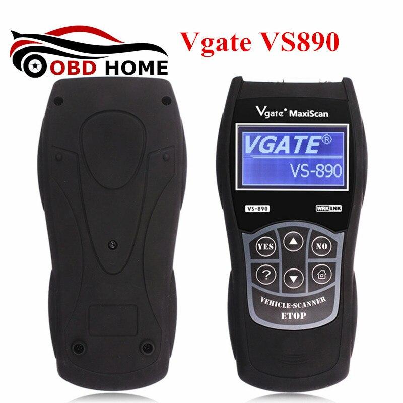 Новое поступление VS 890 OBD2 код универсальный Vgate VS890 диагностический сканер многоязычная авто сканер инструмент Vgate MaxiScan vs- 890