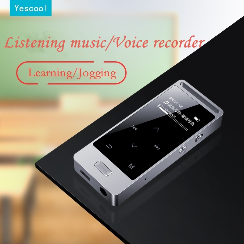Yescool X3 8|16|32|64 GB Metal Professional Quality Mini Voice Recorder HIFI Loseless MP3 Music Player FM Radio Touch Screen