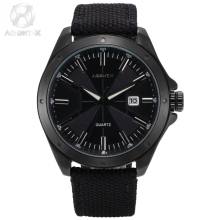 Agent X  Relogio Masculino  Man Nylon Band  Water  Resistant Quartz Black Official Box  Guarantee Card  Watch  For  Gift /AGX147