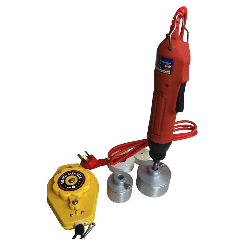 Ev Aletleri'ten Vakumlu Gıda Yalıtıcılar'de Ücretsiz Kargo  220 V el Elektrikli Küçük Manuel Şişe Kapatma Makinesi 10 ~ 50mm title=