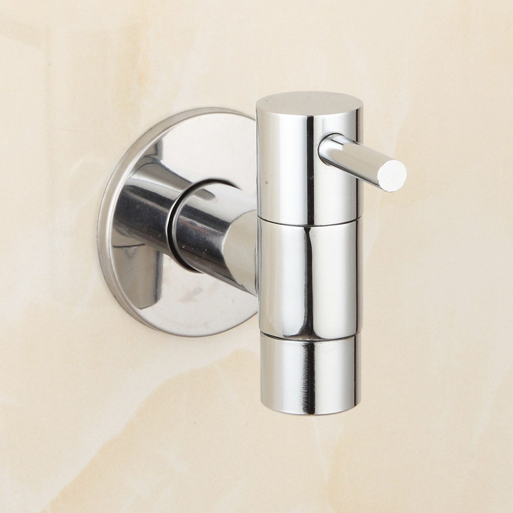 Buy Brass Chrome Bathroom Faucet Kitchen Wall Mount Sink Basin Faucets Cold
