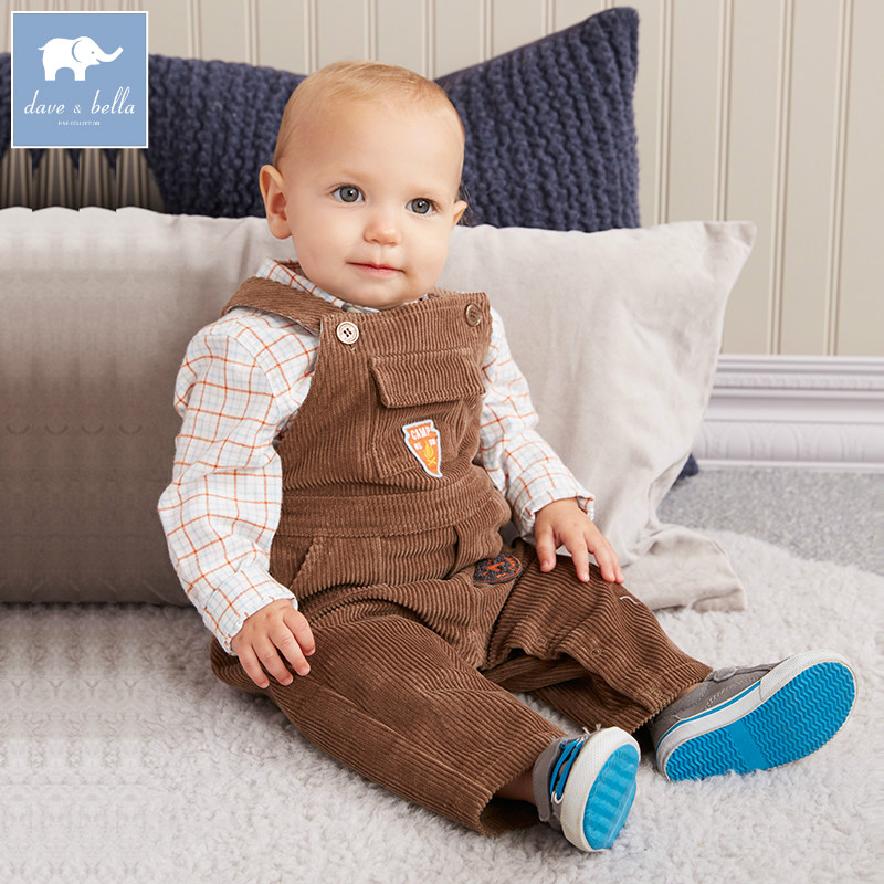 DB5460 dave bella autumn toddler overalls baby boys 100% cotton overalls infant clothes baby cute overalls dbz6974 dave bella spring baby girls fashion denim overalls children toddler clothes baby cute overalls
