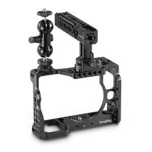 Image 2 - كاميرا صغيرة a7r3 هيكل قفصي الشكل للكاميرا لسوني a7m3 لسوني A7R III كاميرا/A7 III قفص تلاعب ث/مقبض علوي قبضة الكاميرا الكرة رئيس 2103