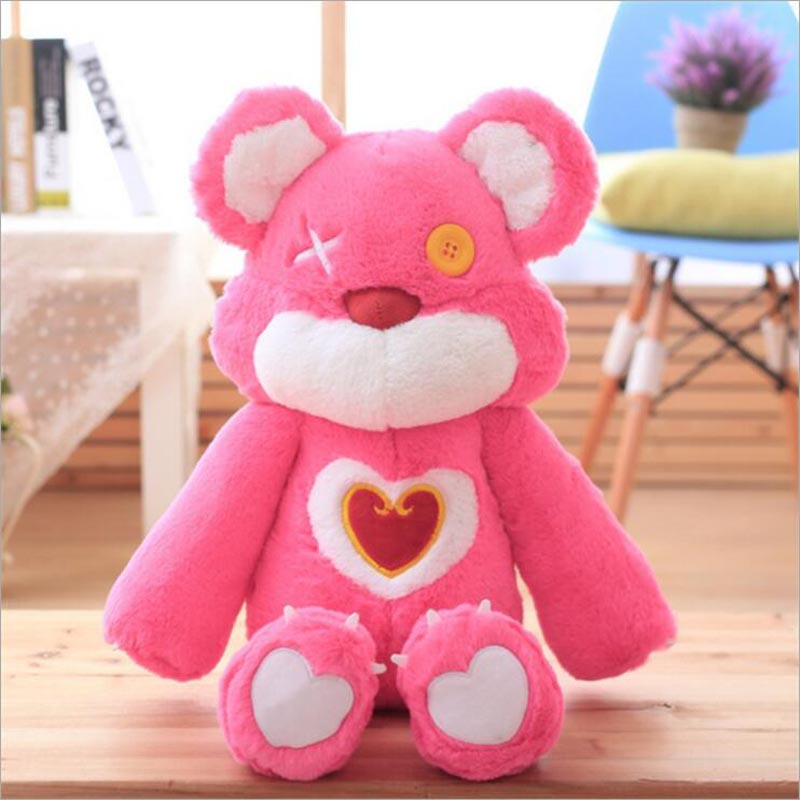 Novo Estilo Encantador Rosa Urso de Brinquedo de Pelúcia Recheado De Pelúcia Boneca Birthdy Presente Para A Menina ou Namorada