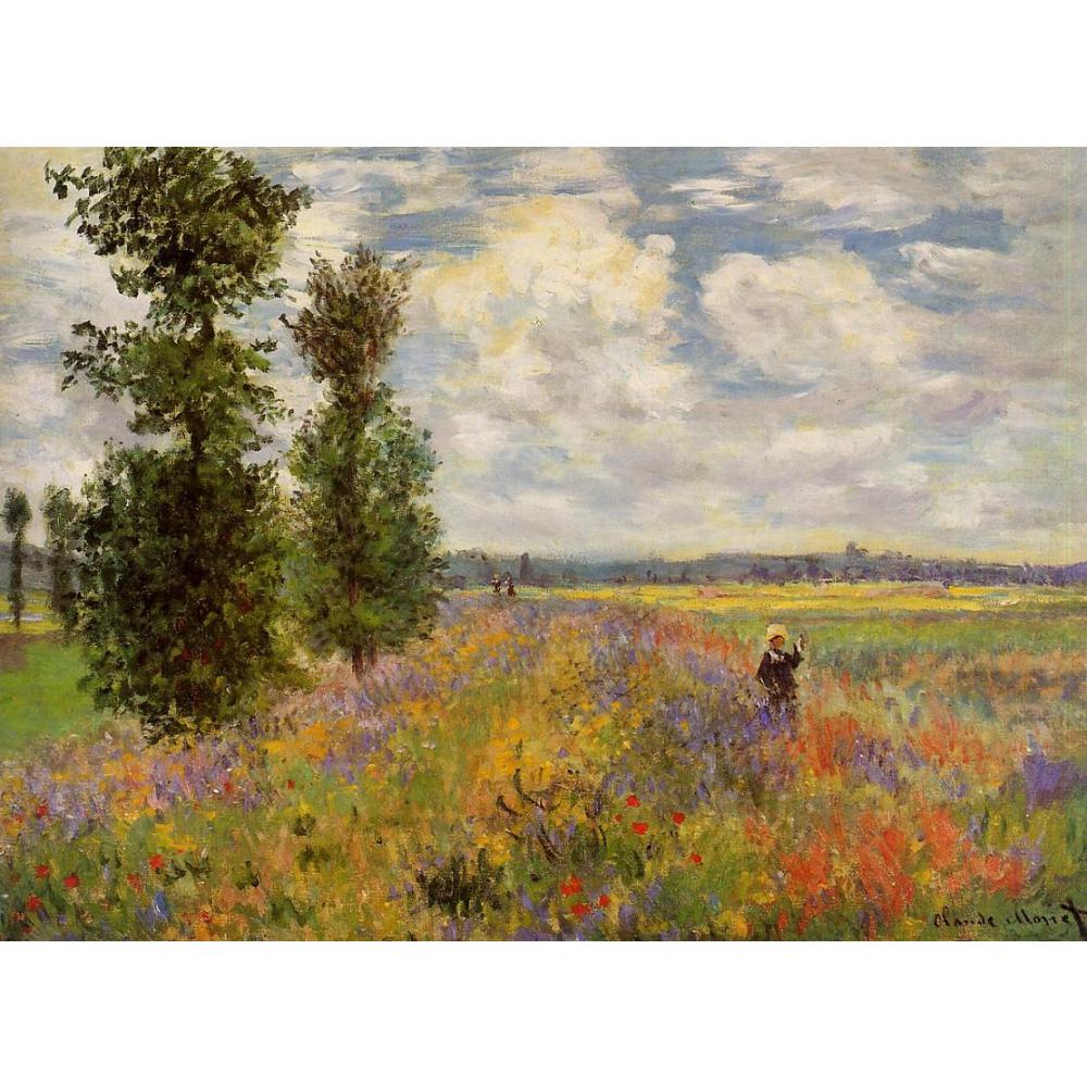 High quality handmade landscape oil painting on canvas Poppy Field Argenteuil Claude Monet home picture decor modern art
