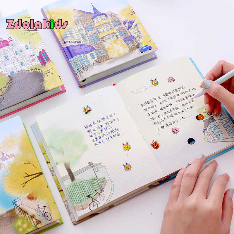 New Arrival Beautiful Notebook Colorful Pages Diary Book Retro
