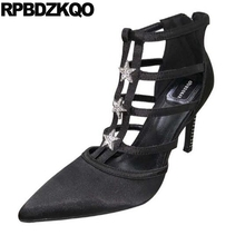 Sexy de tiras bombas de noche para mujeres zapatos de diamantes de  imitación zapatos de tacón alto vestido de tacón tamaño 4 34 . 40a0a0f5f42c