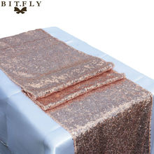 New Brand Champagne/Rose gold/Silver/Gold Sequin Table Runne