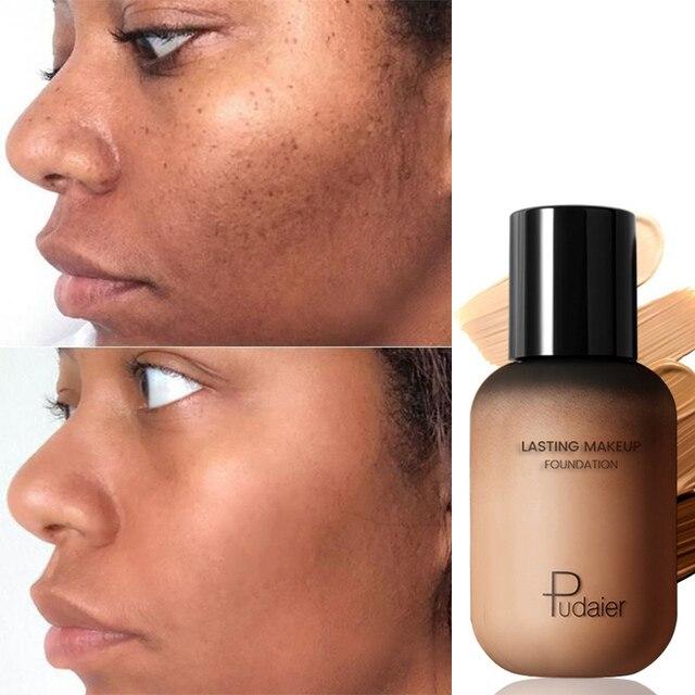 Pudaier 40ml Matte Make Up Foundation Creme für Gesicht Professionelle Verbergen Machen up Tomal Basis Hohe Abdeckung Flüssigkeit Lange anhaltende