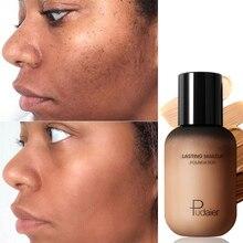 Pudaier 40ml matte maquiagem fundação creme para rosto profissional ocultação compõem tomal base alta cobertura líquido duradouro