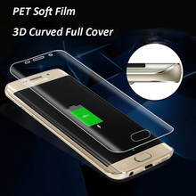 ФОТО 3d full cover curved screen protector film for samsung galaxy note 8 s7 edge s6 edge s8 plus soft pet ( not tempered glass )