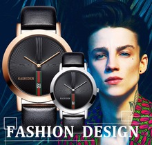 KASHIDUN. Men's Watches Casual Analog Quartz Waterproof Luxury Fashion Dress Watch Simple Easy Read Calendar Date Leather Band