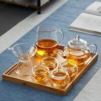 Kung Fu Jogo de Chá Definir Casa Xícara de Chá Filtro Bule de Chá com Bandeja de Chá Copo Justo Jogos de chá     -