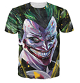 Majin Джокер Футболка Бэтмен кроссовер Джокер супер саян Dragonball Z Мода Одежда Лето Стиль Женщины Мужская футболки футболка