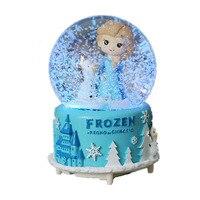 Ice Romance Aisha Snow Crystal Ball Music Box Colorful Lights And More Music Creative Christmas Gifts New Year'S Gift Home Decor