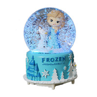 Ice Romance Aisha Snow Crystal Ball Music Box Colorful Lights And More Music Creative Christmas Gifts New Year'S Gift Home Decor