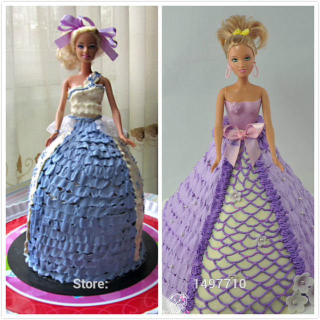Christmas Barbie Cake Pan Aluminium Forma De Bolo W Doll Princess