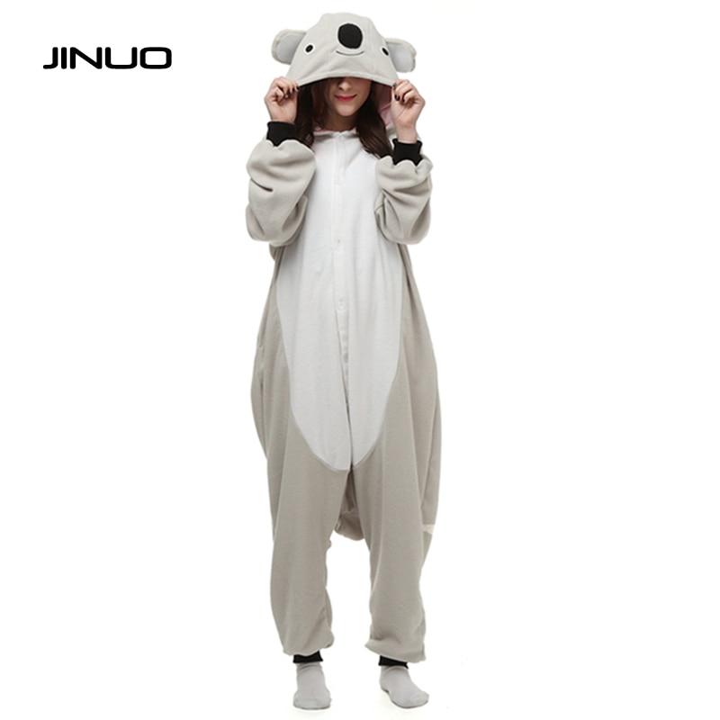 JINUO koala Cartoon Onesies Costumes Pajamas Pyjama Animal Suits Cosplay jumpsuit pajamas pajamas-koala Grey Koala fleece