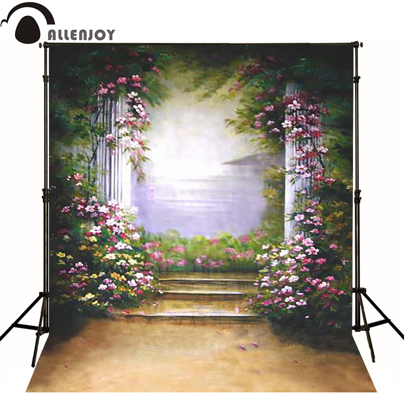 Allenjoy vinyl backdrops for photography Retro pink pillars Mediterranean photo background childern baby photoll christmas