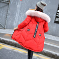 2016 new jacket girls long size thick Fox Fur Hoodie coat on behalf of wholesale.