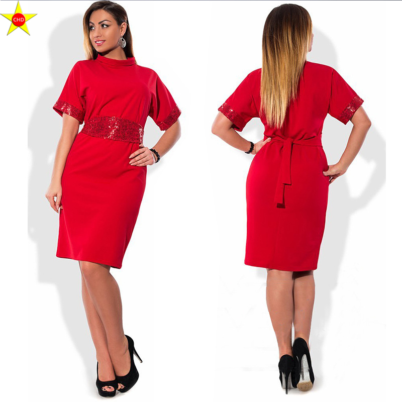 SexeMara Plus Size Casual Women Summer Bandage Dress