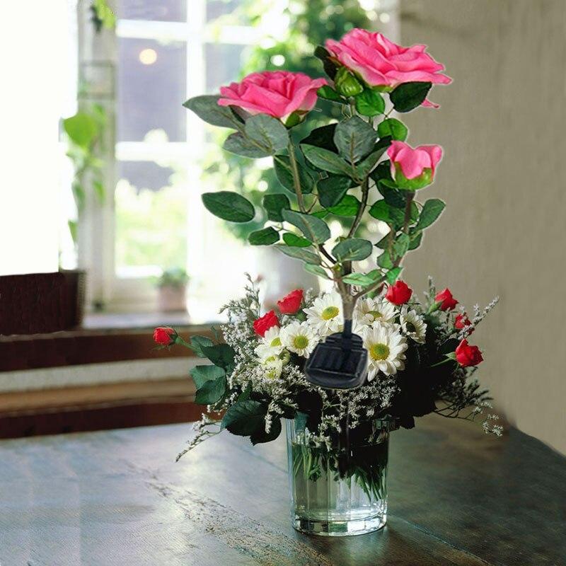 3 Roses Solar Light Perfect Quality LED Solar Outdoor Lighting Powerful Solar Panel Garden Flower Lights Insertable Foot