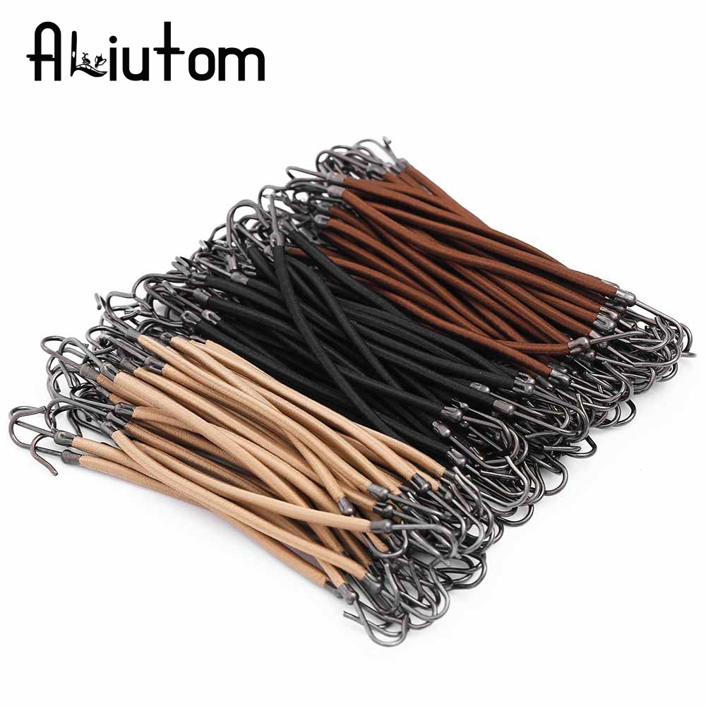 ALIUTOM 4pcs/Set Elastic Hair bands gum hook ponytail holder Bungee Hair thick/curly/unruly hair styling tools hair Accessories