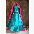 Disfraces elsa vestido princesa de adultos elsa traje snow white queen cosplay trajes de carnaval para mujeres de encargo del partido