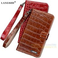 Crocodile Grain Genuine Leather Case For Samsung Galaxy Note 2 N7100 N7108 Luxury Leather Cover Card