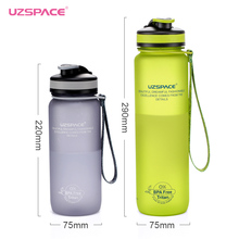 Uzspace 2017 Tritan(BPA free) 650/1000ml Sports Portable Space Travel Gym Climbing Cycling My plastic Water Bottles
