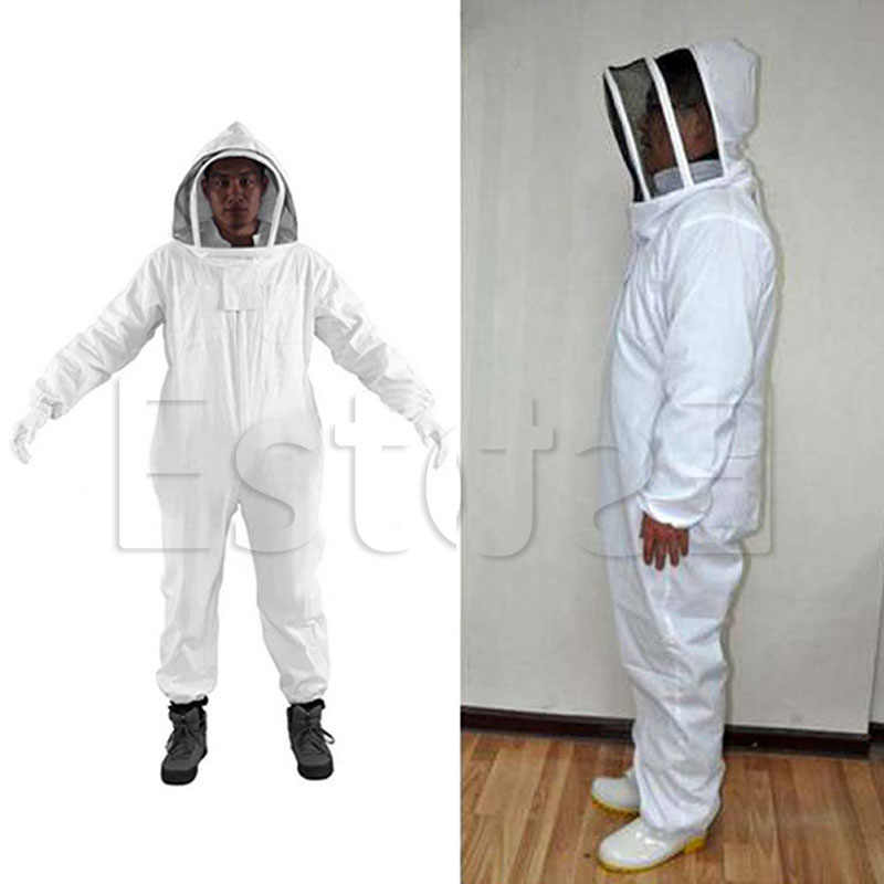 Free Shipping Beekeeping Veil Bee Keeping FULL BODY Suit Hat Smock Protective Equipment XXL