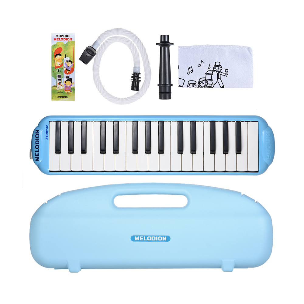 1 * Melodica 1 * Short Mouthpiece 1 * Long Mouthpiece 1 * Carrying Case 1 *  Cleaning Cloth 1 * User Manual(English & Chinese)