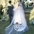 Romantic 3M Long Wedding Veils Hu Da Beauty White Tulle Sheer One Layer Cheap Bridal Accessories Gown 2017 In Stock
