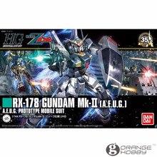 Salud Bandai HGUC 193 1/144 RX 178 Gundam Mk II un E U G Kits de modelos de ensamblaje de traje móvil Revive