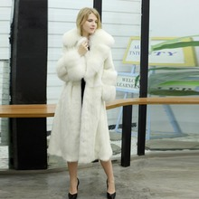 58d66e9b604d19 Delicate Design Women Winter Tops Real Fur Mink Coats With White Fox Collar  Sleeves Warm X