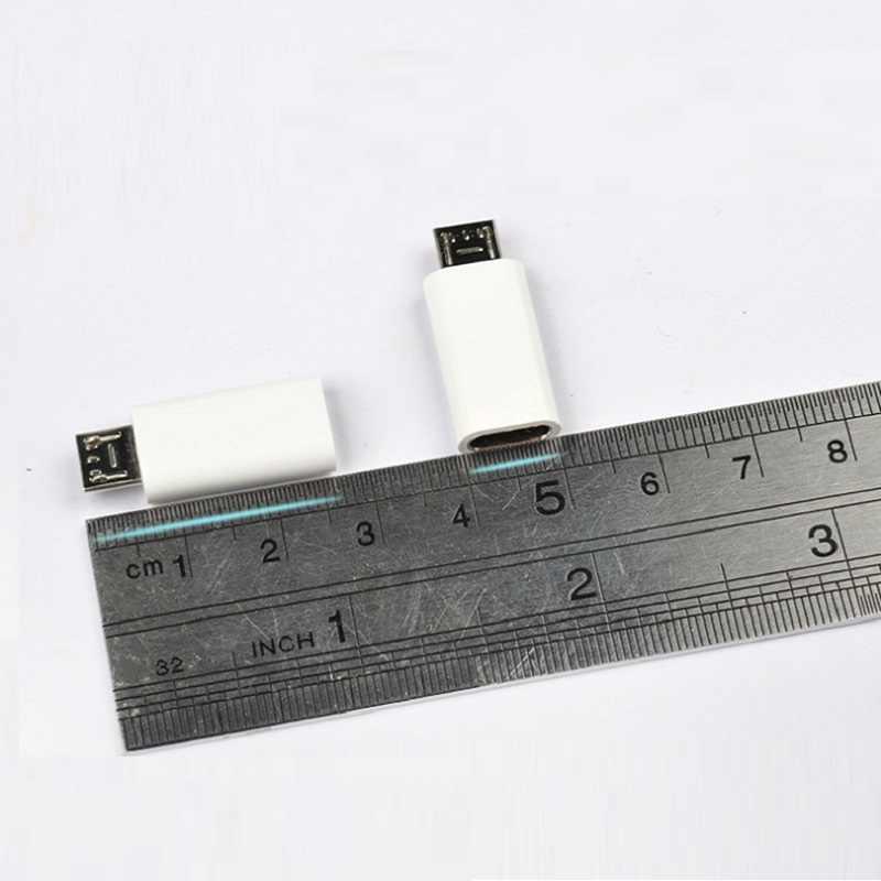 USB 3.1 Type C Female Naar Micro USB Male USB-C Data Adapter Converter Connector Voor Telefoons Zwart wit