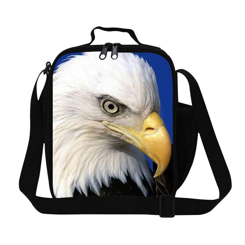 Hot Lunch Bag Animal Cool Bald Eagle 3D Printing Picnic Food Bag For Men School Children Lunch Box Kids Food Bag Bolsa Termica