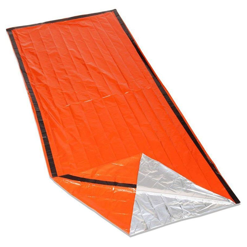 Emergency Survival Sleeping Bag Easy Heat Insulation COMPACT Outdoor First Aid Gear Waterproof Bivy Sack For Camping Hiking Ba