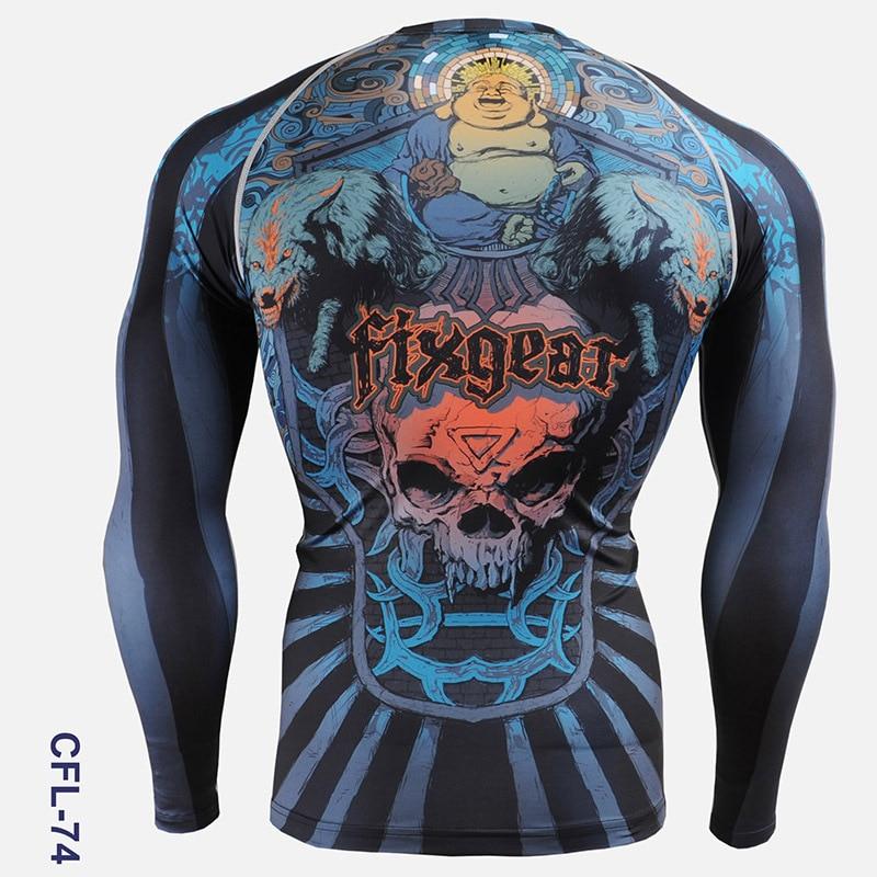 PRO Skull Print Herren Radsport Skins Kompressionsstrumpfhose Shirts - Sportbekleidung und Accessoires - Foto 4